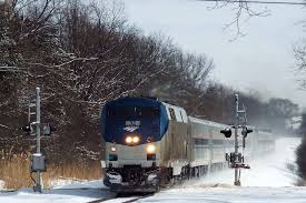 Amtrak in winter