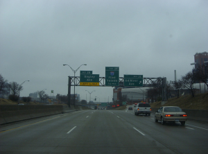 i-75 through Detroit