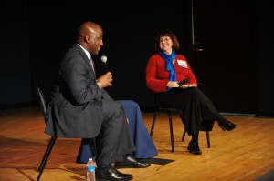 RTA CEO Michael Ford answers questions from TRU ED Megan Owens at TRU Fall Meeting