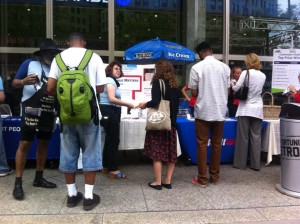 Events like the Commuter Challenge provide great opportunities to discuss transit.