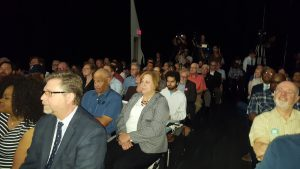 A packed house of over 300 people at the RTA's Plan release event.