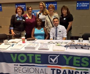 Alexis Blizman helped lead the Vote Yes for Regional Transit field campaign