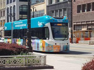 Detroit QLine Tram Trolley
