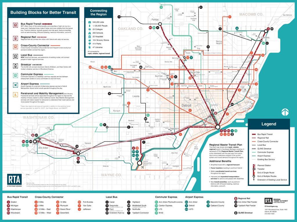 RTA Master Transit Plan map