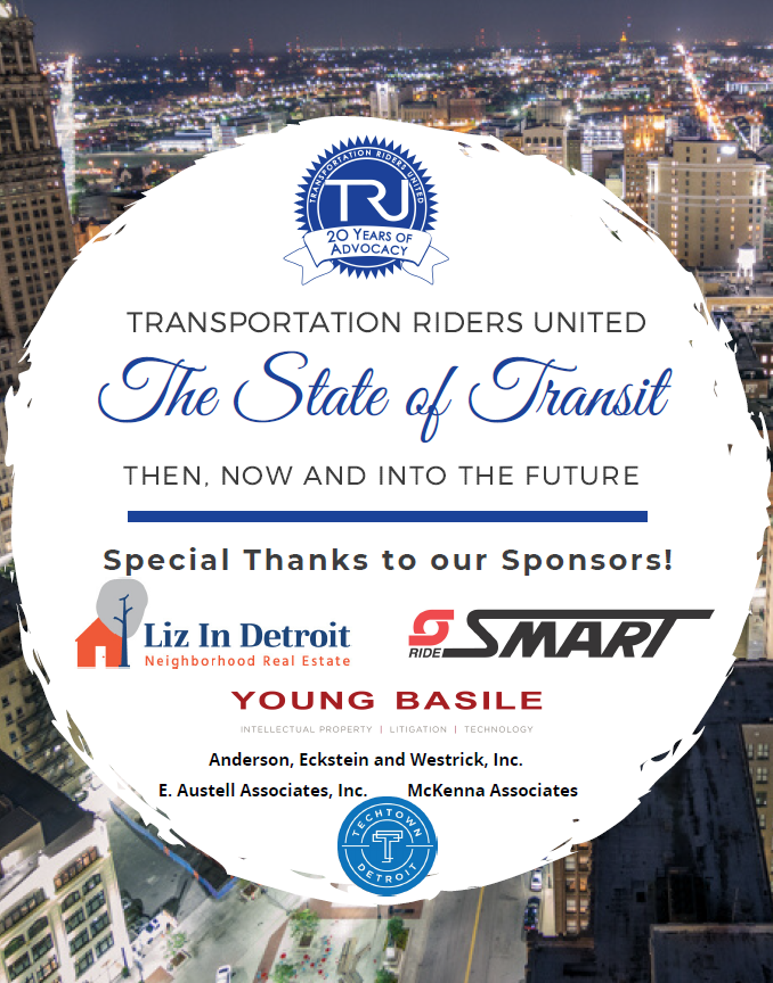Special thanks to our sponsors, including SMART, Liz in Detroit, Young Basile, TechTown and others