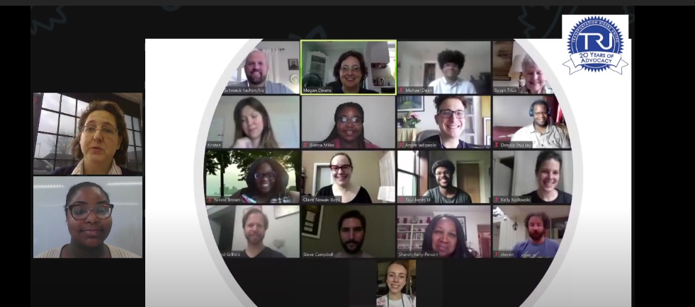 TRU's board smiling on a zoom call